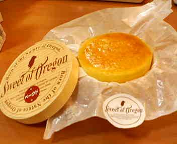 スィートオブオレゴンのチーズケーキ